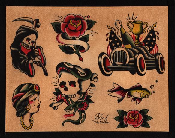 Slot machine tattoo old school